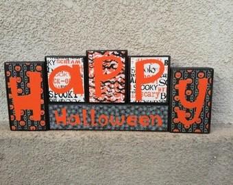 Halloween blocks - Happy Halloween - black
