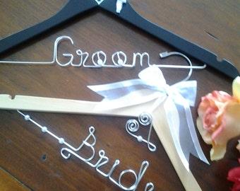 Specialy Design Bride and Groom Hanger Set