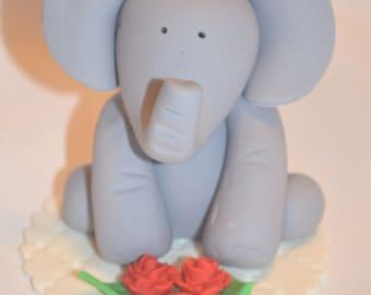 Fondant Baby Elephant Cake Topper Custom Designed and Created for You