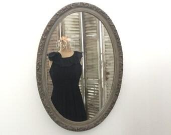 Oval Wall Mirror, Bathroom Mirror, Rustic Vanity Mirror, Shabby Chic Mirror, Nursery Mirror, Patio Decor, Bedroom Wall Mirror, Home Decor