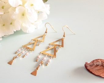 "Geometric Earrings - ""triangular"""