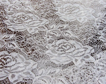 1yard Rose Lace Fabric ,Lace Wholesale, off white wedding dress lace fabric ,lacey  veil,lace for sale