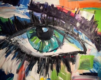 The Eye. Original painting by Dove Alexandria