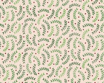 Christmas Green Leaves Photo Backdrop