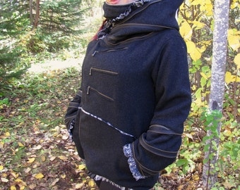 ZaZa Zipper Jacket ~Charcoal 100% Wool with HEAVENLY cozy lining