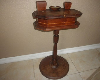 Smoke Stand made of Wood with Intricate Design