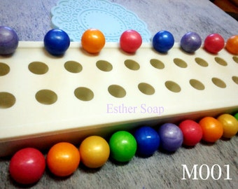 M001- BEST Selling Quality Mold! 20-cavity BALL shaped flexible silicone mold for ice soap embeds