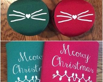 Meowy Christmas Drink Insulator
