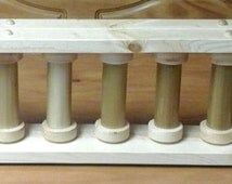 Stained Handcrafted 11 Spool yarn/bobbin holder