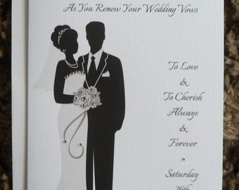 Handmade Personalised A5 Wedding Vow Renewal Card