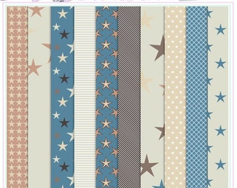 STARS - Layered Paper Pack - CU OK - psd and jpg versions - Stars And Stripes - Instant Download