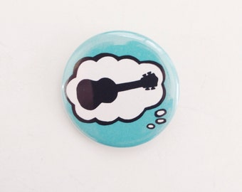 Ukulele Button - Thinking of Ukuleles 1.25""