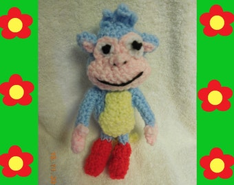 Crocheted Monkey Inspired by Boots from Dora the Explorer