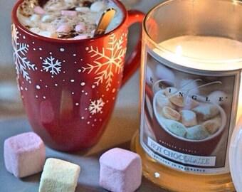 Christmas mug, Red Snowflake mug, hot chocolate coffee cup, tea cup, Christmas mug, novelty mug, Christmas gift, UK seller