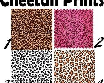 Pattern Vinyl Cheetah Leopard Printed vinyl- adhesive sticky craft vinyl  or HTV white cheetah- pink cheetah- Leopard print