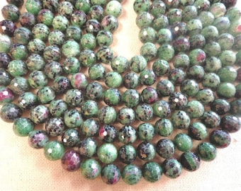 Beautiful 10mm and 12mm Ruby Zoisite Round facet-cut