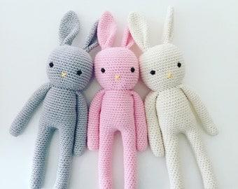 MADE TO ORDER Amigurumi Bunny Crochet Bunny Handmade Bunny Crochet Toy Newborn Gift Child Gift Baby Shower Gift Amigurumi RabbitNewborn Prop
