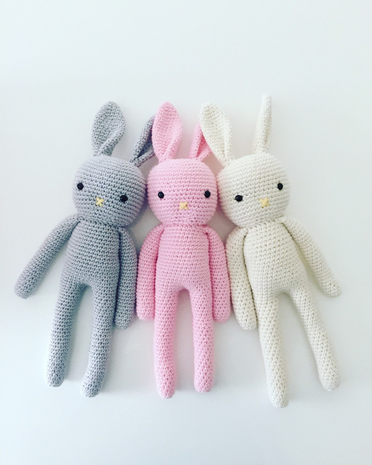 made to order crochet bunny plush toy cotton bunny amigurumi. Black Bedroom Furniture Sets. Home Design Ideas