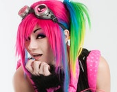 Sin Straight Layered Wig in Rainbow