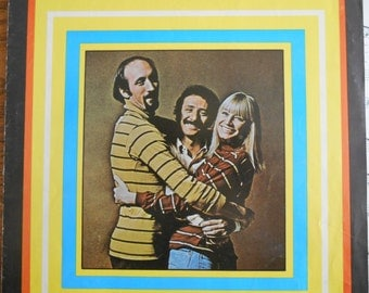 1969 Leaving on a Jet Plane Sheet Music, Photo Cover of Peter, Paul & Mary, Cherry Lane Music Co., Vintage 60's Music PP+M, Song by J Denver