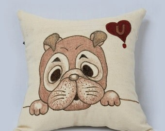 Jose love you in brown Cushion