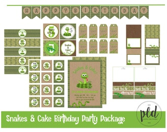 Snake & Cake Birthday Party Printable Package