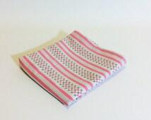 floral pillowcase striped handmade Scandinavian bedding 1960s design