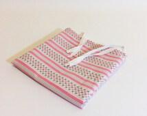 pink pillowcase handmade Swedish bedding pink white black