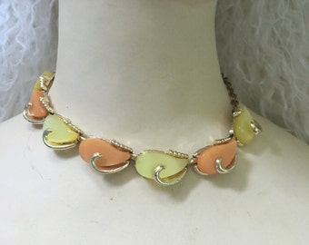 Vintage Orange and Yellow Choker Necklace