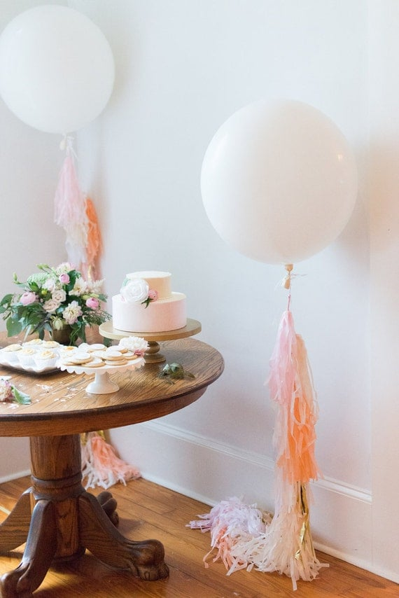 Custom balloon tassel tail