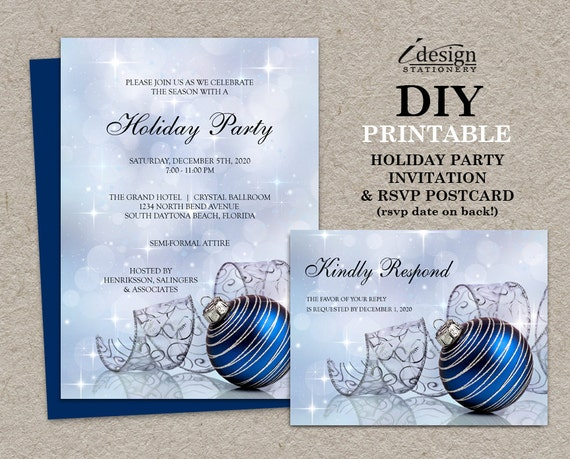 items similar to christmas party invitations with rsvp