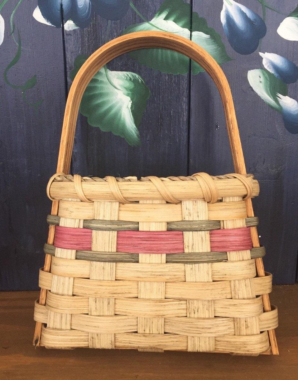Flower Baskets Usa : Handmade basket tapered wall hanging flower
