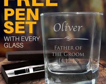 Personalised Engraved Whiskey Glass Wedding Favour Scotch Bourbon Groomsman Gift bomboniere
