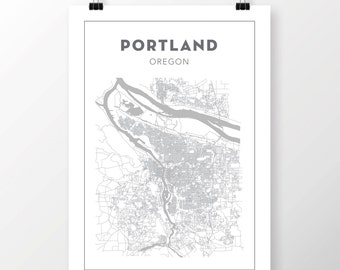FREE SHIPPING to the U.S!! PORTLAND, Oregon Map Print