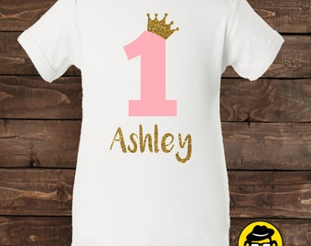 First Birthday Outfit, Onesie, 1st Birthday, First Birthday Onesie, princess, Personalized,  Birthday, 2nd Birthday,Personalized