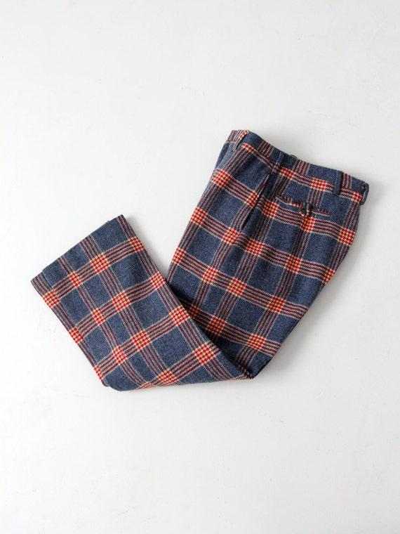 Mens Vintage Plaid Pants 73