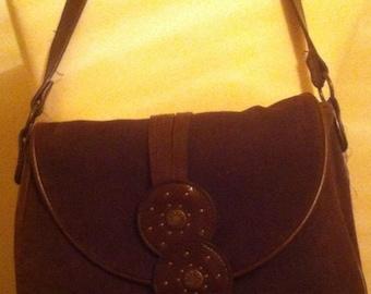 Sale!! Cool Hippy Chick Bag. Corduroy Shoulder Bag. Retro Purse. Vintage Bag