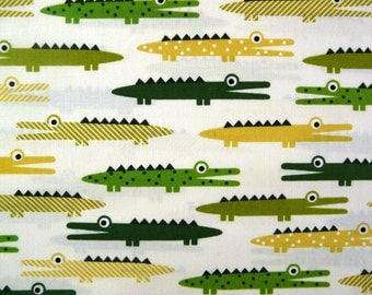 Fabric - Robert Kaufman - crocodile cotton print.