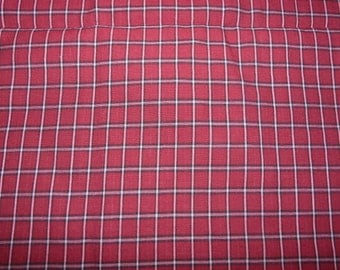CLEARANCE - Cotton check fabric - 50cm remnant