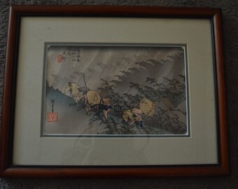 Original Vintage Asian Watercolor