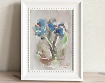 Flower Painting, Watercolor Flower Painting, Flowers, Contemporary Art, Modern Painting, Modern Art, On Sale!