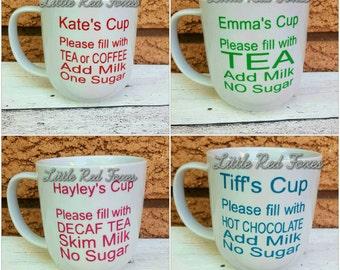 Custom instructional mugs. Coffee mug. Gift idea. Personalised mug.