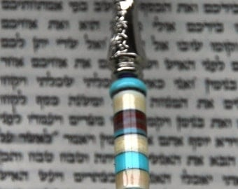 Torah Pointer/Yad with one of a kind handmade lampwork beads.  Ideal Bar or Bat Mitzvah gift.