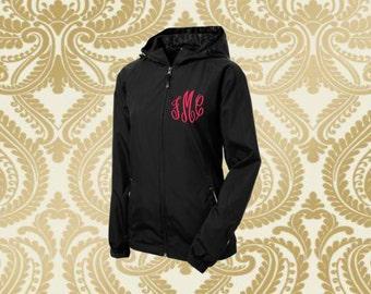 monogrammed jacket, monogrammed rain jacket, monogrammed coat,