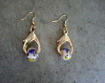 Handmade Teardrop Lamp Work Earrings