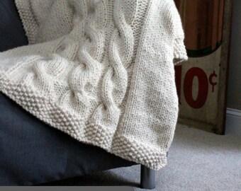 Knitting Pattern For Wedding Blanket : Knitting Patterns by FiftyFourTenStudio on Etsy