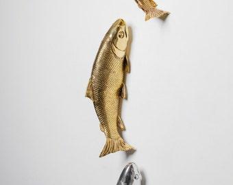 Interior Illusions Set of 3 Koi Fish 2 Gold & 1 Silver