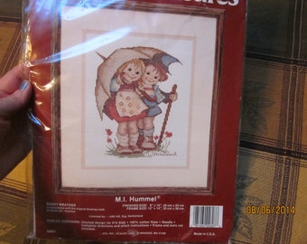 """Vtg 90's Needle Treasure M. I. Hummel """"Sunny Weather"""" Counted Cross Stitich Made in Usa Originally from Lee Ward's Sealed Kit"""