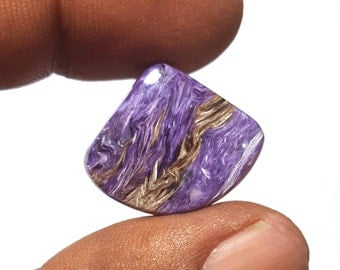 Rich Purple 23 carat Natural Russian Charoite Cabochon Free form 24 x 20 mm for Ring / Pendant making : LG1465