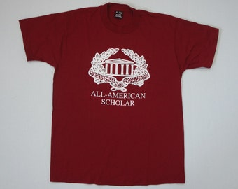 All-American Scholar T-Shirt Vintage 1990s L
